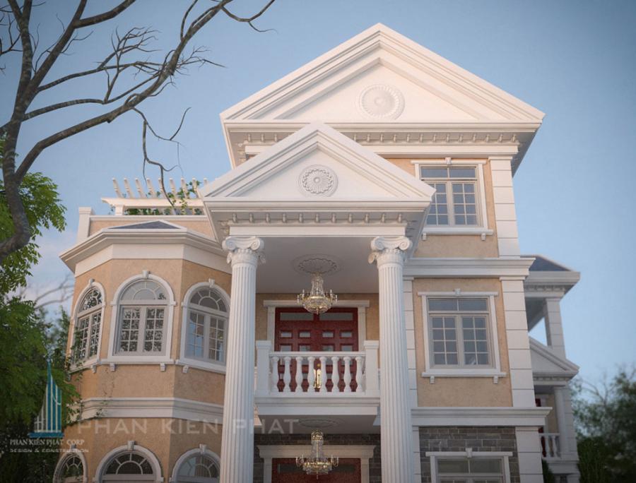 Mẫu biệt thự đẹp của anh Trần Văn Dũng