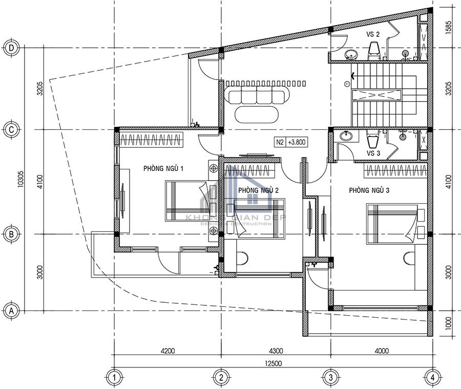 Mẫu biệt thự hiện đại 2 tầng 10x12,5m tại Cần Thơ
