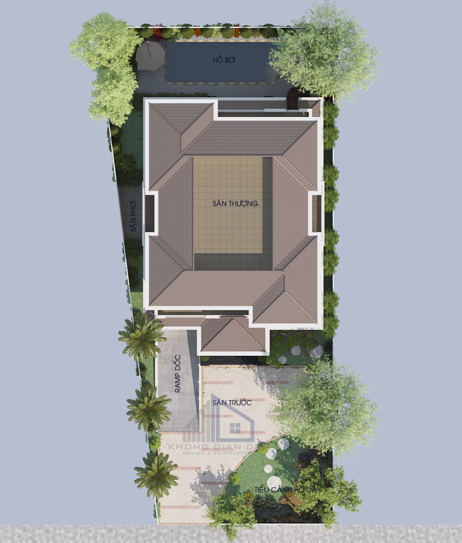 Biệt thự 3 tầng hiện đại diện tích 15x25m