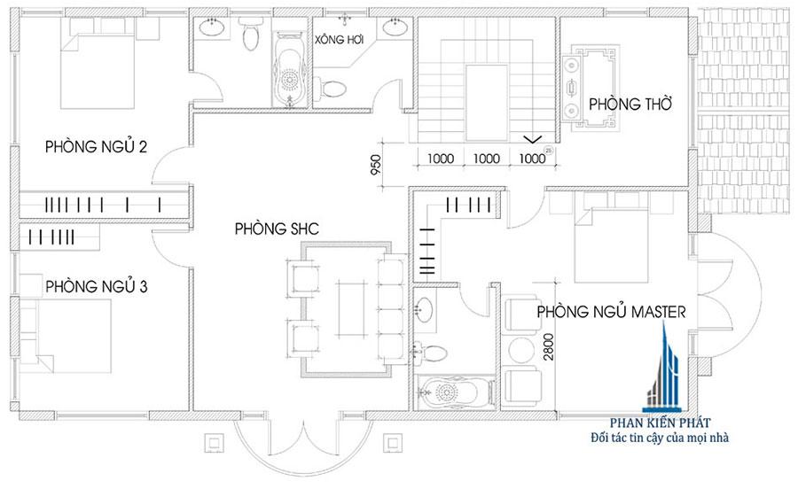 Mẫu biệt thự 2 tầng mái thái bán cổ điển