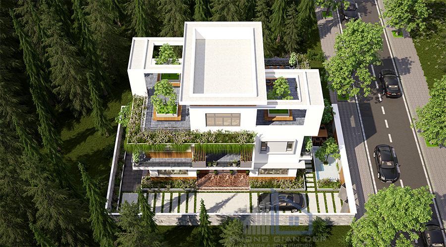 Mẫu biệt thự hiện đại 3 tầng diện tích 9x14,5m