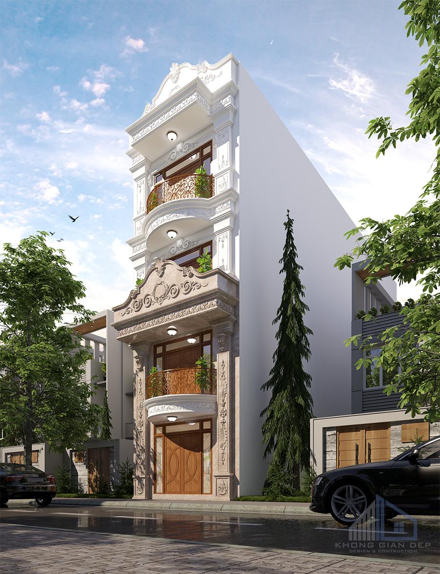 Mẫu biệt thự phố 4 tầng diện tích 5x19m