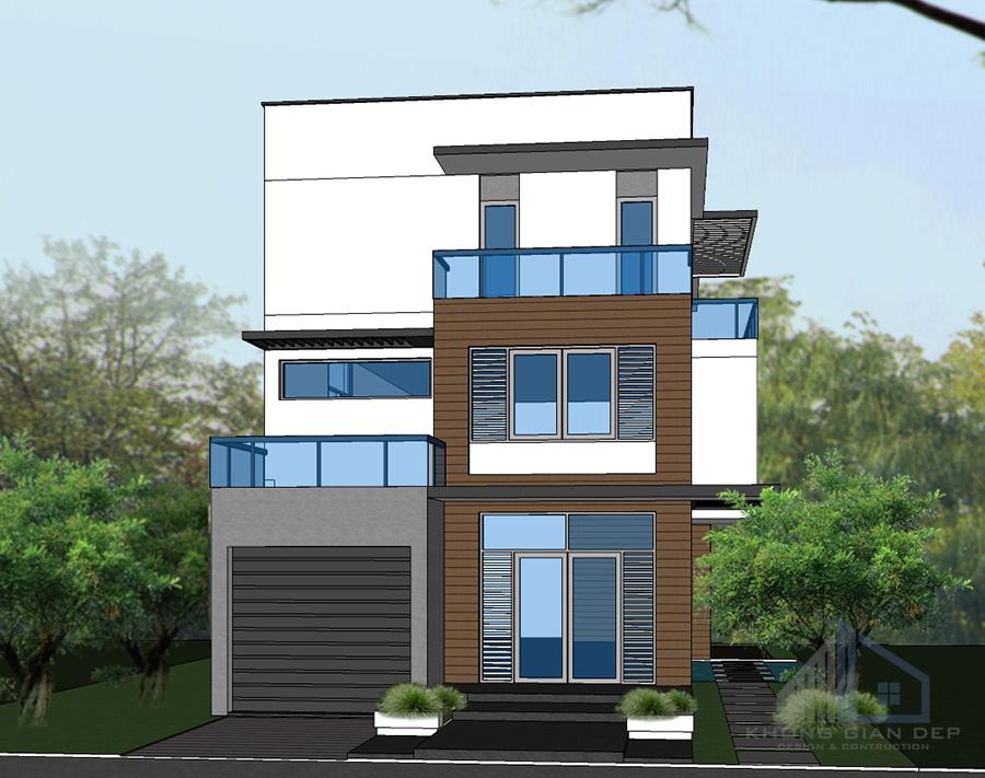 Mẫu nhà phố 3 tầng hiện đại 8,5x17m