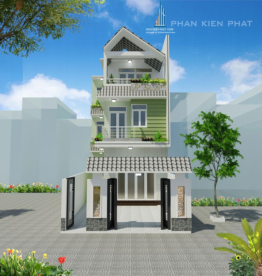 Mẫu nhà phố hiện đại 3 tầng diện tích 6x18m