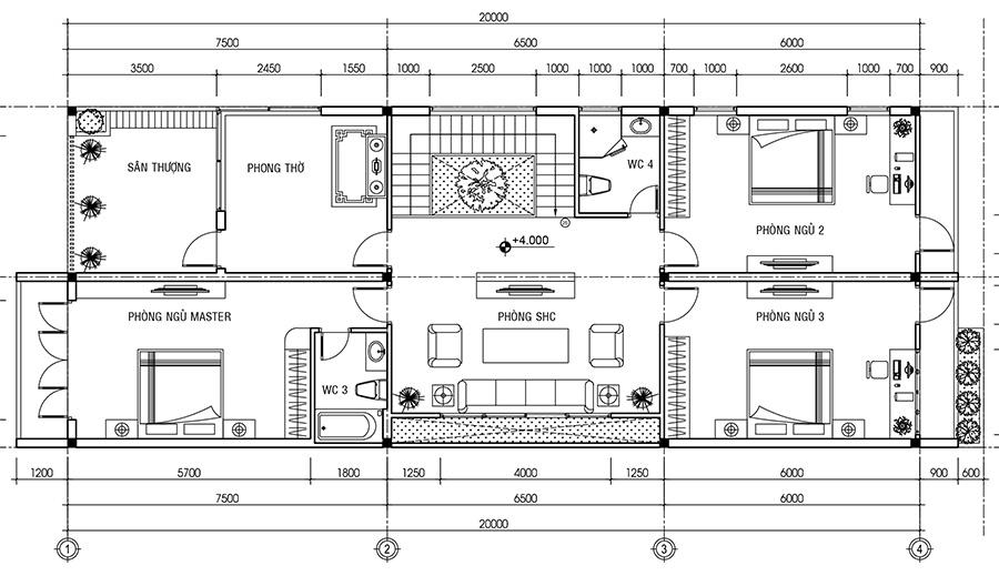 Mẫu thiết kế biệt thự hiện đại 8x20m