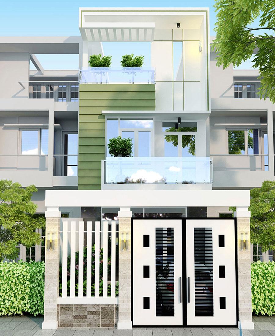 Mẫu thiết kế nhà phố 3 tầng sang trọng