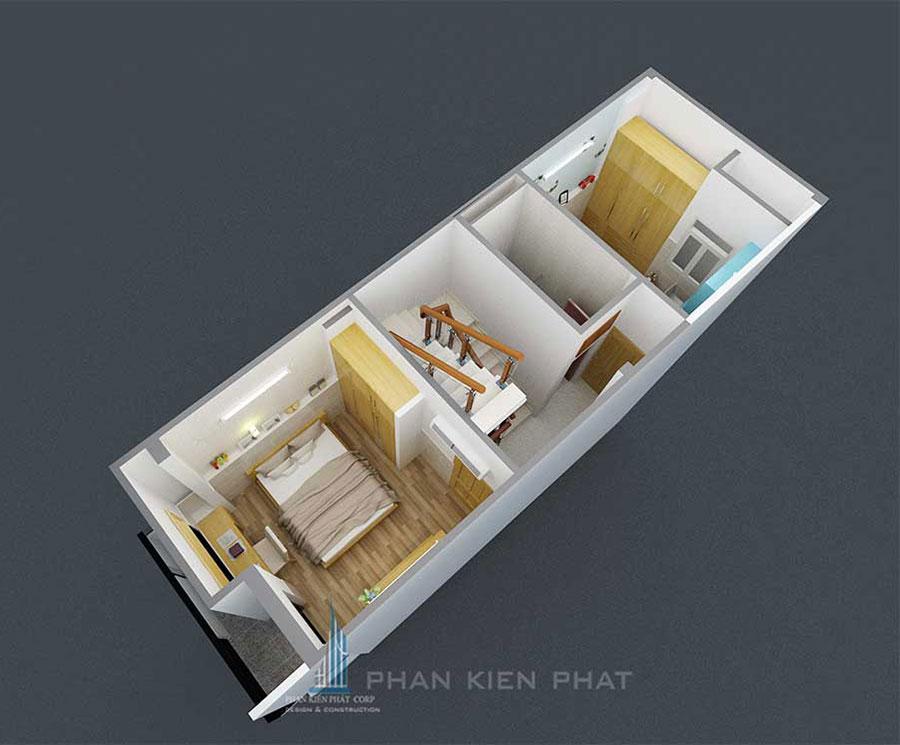 Mẫu nhà phố 5 tầng diện tích 4x10m tại Bình Tân