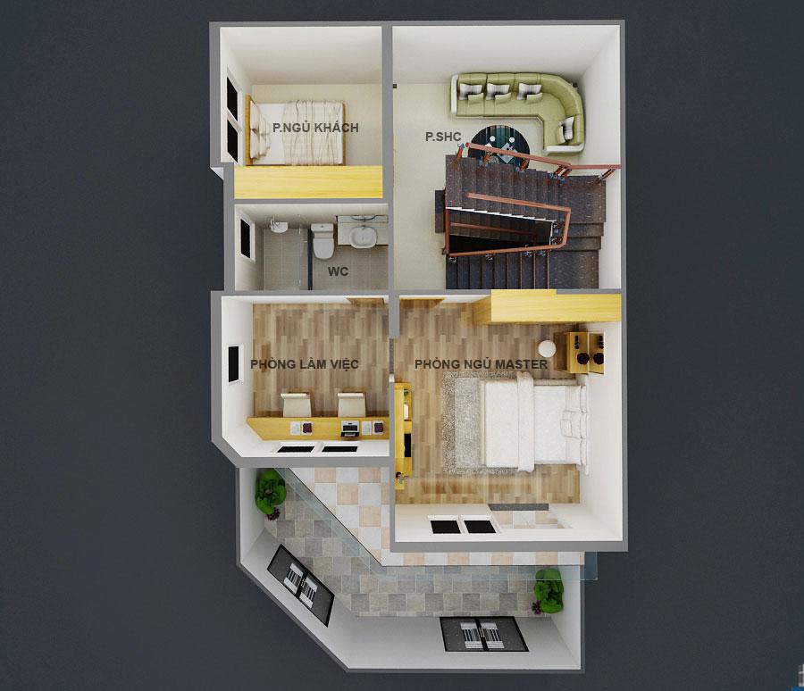 Biệt thự bán cổ điển 3 tầng 2 mặt tiền