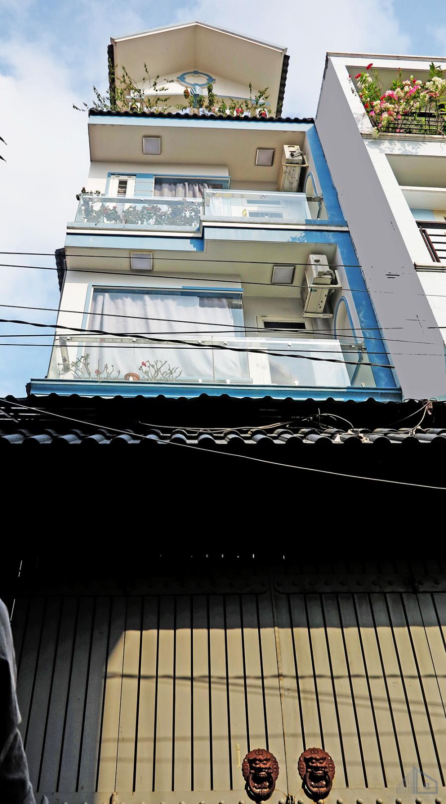 Mẫu nhà phố 5 tầng hiện đại diện tích 4x14m