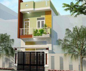 Mẫu thiết kế nhà phố lệch tầng tại Tân Phú, HCM