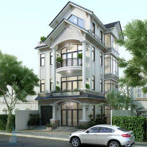 Thiết kế cải tạo sửa chữa mặt tiền nhà phố biệt thự 4 tầng đẹp anh Hưng