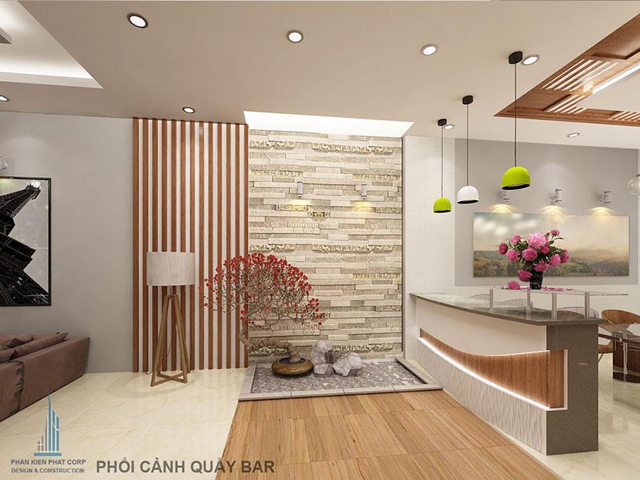 Thiết kế thi công trọn gói nhà phố 4 tầng đẹp tại Tân Phú